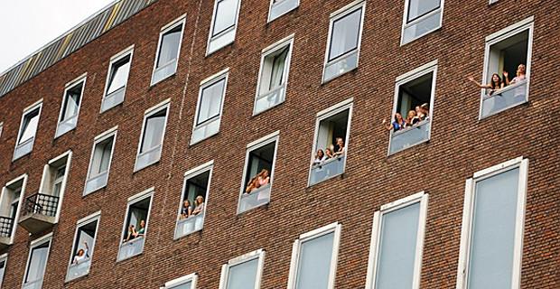 Schüler im Kieler Schloss